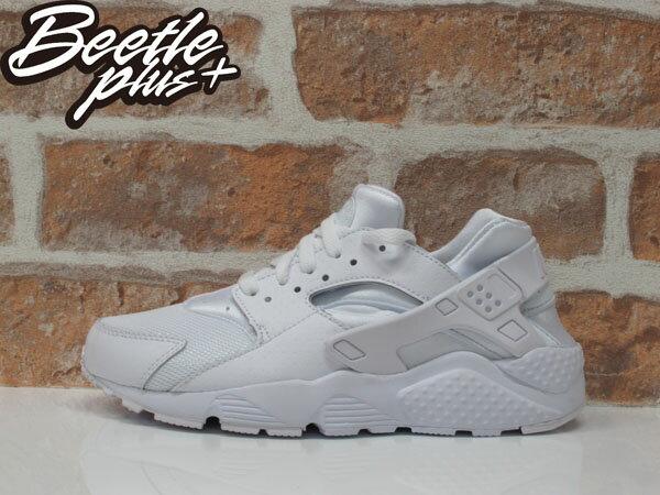 女鞋 BEETLE NIKE HUARACHE RUN GS 全白 白武士 復古 運動鞋 慢跑鞋 654275-110 0