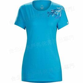 S零碼特價Arcteryx 始祖鳥 T恤/棉T透氣圓領短袖上衣 16455 Bird Trio T-Shirt 女款 轟炸機藍