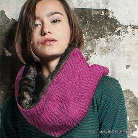 [ Buff ] 圍巾/頸圍/旅遊/滑雪/皮草/針織/毛草感雙面圍巾 Adalwolf 1682-523 桃紅