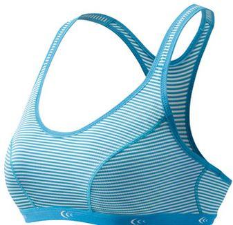 C3fit 運動內衣/路跑/馬拉松/瑜珈有氧/健身/排汗內衣 3FW82200 日本製 Sports Bra 橫條紋藍