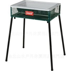 [ Coleman ] 兩段式輕量烤肉箱/烤肉架/燒烤爐/焚火台/BBQ 綠色 CM9369JM000