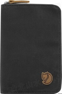 Fjallraven 瑞典北極狐 Passport Wallet 旅遊護照包/復古拉鍊皮夾/錢包 24220-030 深灰