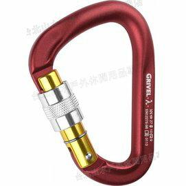 Grivel 鍛造有鎖鉤環/大D勾環/登山扣環 K7N Lambda Screwgate 義大利製