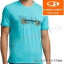 Icebreaker/排汗衣/短袖T恤/美麗諾羊毛/出國旅遊 JN150 102450-301 海水藍協力車