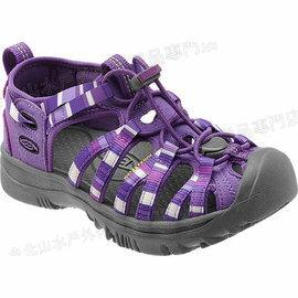 零碼特價[ KEEN ] 1009961 勳章紫 Whisper 青少年款/童款 美國越野護趾涼鞋/運動涼鞋/水陸鞋