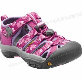 零碼特價[ KEEN ] 涼鞋/運動涼鞋/護趾涼鞋/拖鞋 Newport H2 童款 1012291 印花粉