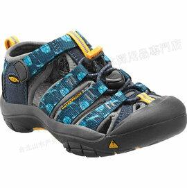 [ KEEN ] 涼鞋/運動涼鞋/護趾涼鞋/拖鞋 Newport H2 童款 1012297 深藍印花