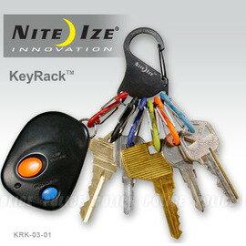 ^~ NITE IZE ^~ KRK~03~01 黑色 KEYRACK 鑰匙圈
