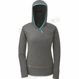 [ Outdoor Research ] Echo Hoody 登山排汗衣/長袖連帽運動T恤/帽T 女款 OR90000 008 灰