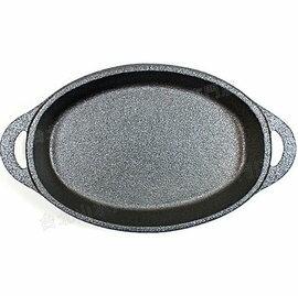 Old Mountain 鑄鐵橢圓烤盤/迷你焗烤盤/鐵板燒/鑄鐵鍋 7.5吋 10191