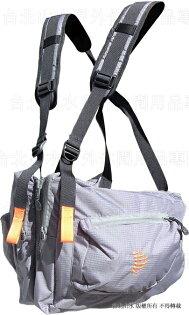 RIBZ ] 美國 RIBZ 多功能胸前袋/攝影背心/釣魚背心/登山多口袋胸掛包 灰色