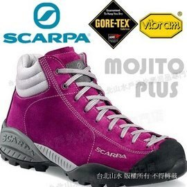 [ Scarpa ] Mojito Plus Gore-tex 中筒登山鞋/山系休閒鞋/防水越野鞋 yama風穿搭/麂皮 女款 32602-200 桃紅
