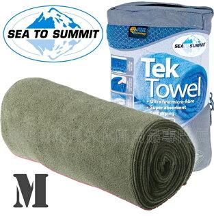 [ Sea to Summit ] Tek Towel M 舒適快乾毛巾 ATTTEKME 灰綠
