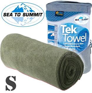 [ Sea to Summit ] Tek Towel S 舒適快乾毛巾 ATTTEKSE 灰綠
