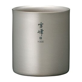 Snow Peak 鈦杯/保溫杯/雪峰杯/鈦合金雪峰雙層斷熱杯 H300 TW-123