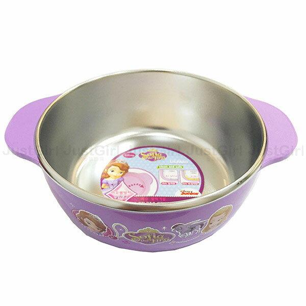 迪士尼 小公主蘇菲亞 隔熱碗 碗 兒童碗 大 304不銹鋼370ml 餐具 韓國  ^~