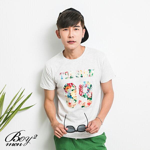 ☆BOY-2☆【KK4795】韓版潮流碎花TORSION89短T 3