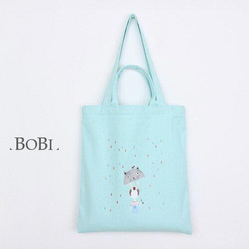 手提包 手提包 帆布袋 手提袋 環保購物袋--手提/單肩/拉鏈【SPA63】 BOBI  10/06 0