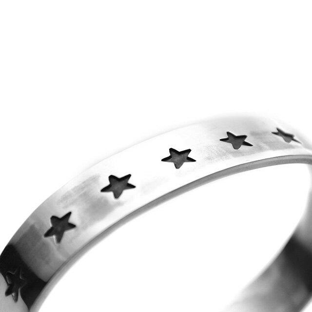 網路獨家【EDF】Stamp star 星星印花純銀手環 (BG-001) 1