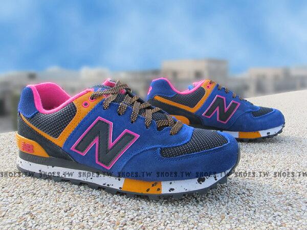 [24.5cm]《超值4折》[24.5cm] Shoestw【ML574BO】NEW BALANCE NB574 藍紫 潑墨 大麥町 女生
