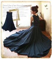 時尚洋裝 小禮服推薦到滿799再現折$100 [藍色祝福]日系禮服森棉質自然仙氣質蓬鬆無袖背心裙洋裝 - 御聖願