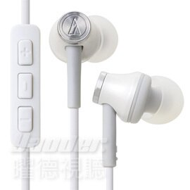 【曜德視聽】鐵三角 ATH-CK330i 白色 apple專用耳機 免持通話 ★免運★送收納盒★