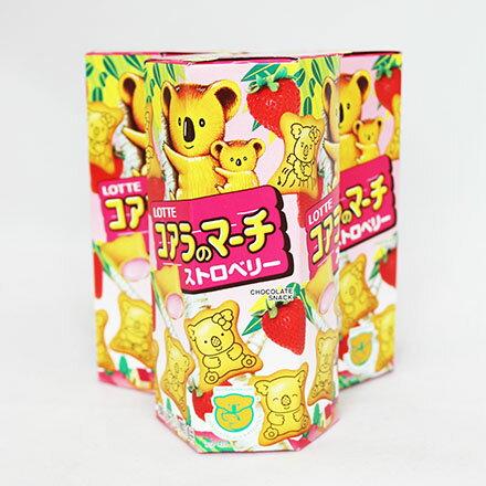 【敵富朗超巿】樂天小熊草莓餅乾 0