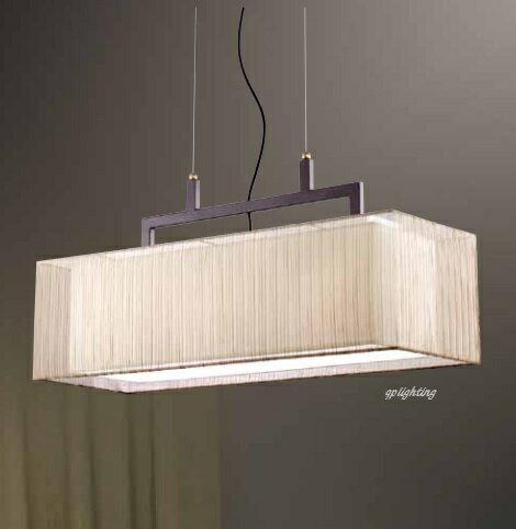絲罩矩形吊燈 E27 * 3 (長70公分)
