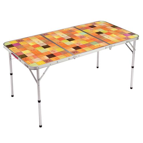 【露營趣】中和 附鋁合金手電筒 Coleman CM-26750 自然風摺桌/140 休閒桌 露營桌 摺疊桌 野餐桌