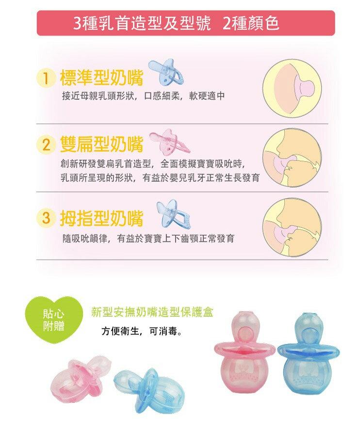 US Baby 優生 - 矽晶安撫奶嘴 (拇指) -S (藍/紅) 4