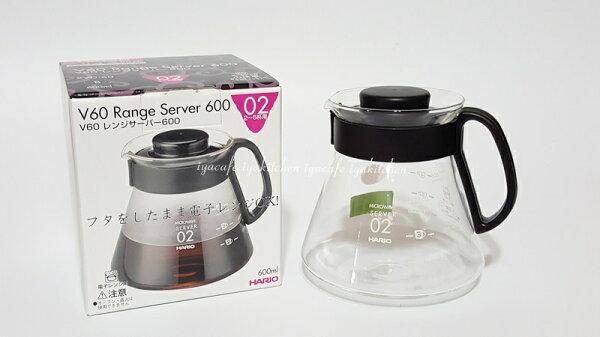 《愛鴨咖啡》HARIO XVD-60B XVD60B 耐熱玻璃壺 咖啡承接壺 泡茶壺 600cc