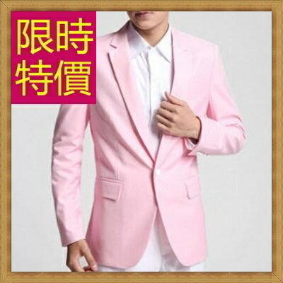 西裝外套 男西服(單外套)-韓版修身時尚商務男外套59t12【韓國進口】【米蘭精品】