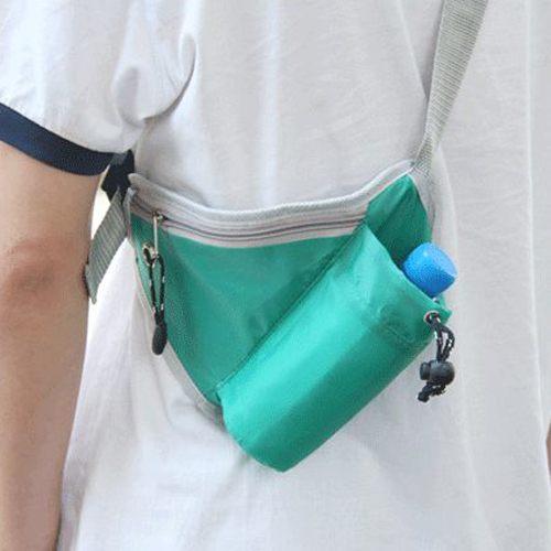 PS Mall╭*百搭運動多功能貼身收納腰包 運動多功能戶外貼身收納腰包臀圍包前掛後掛背掛【J2266】