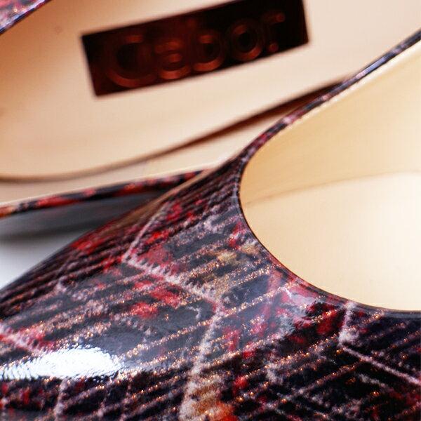 Gabor 菱紋未來感時尚低跟鞋 3