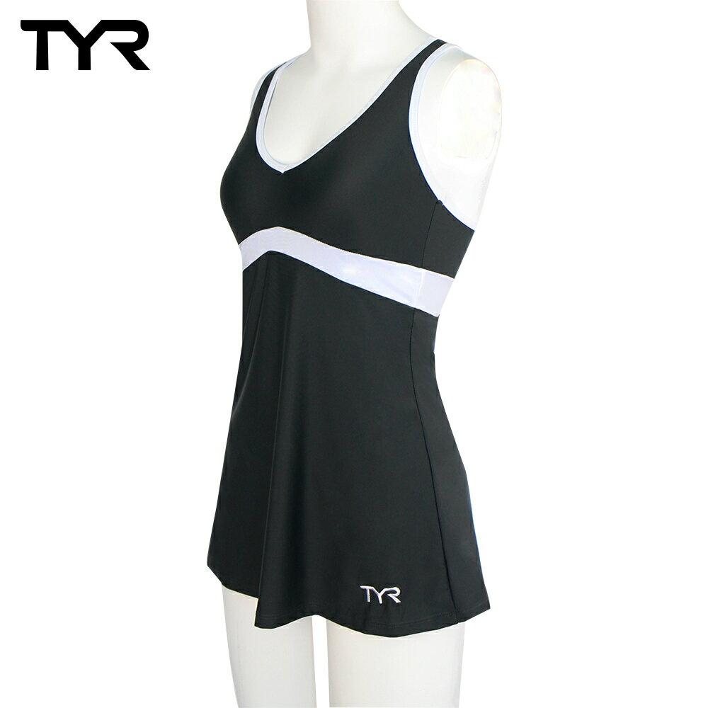 美國TYR女用修身連身裙泳裝Celsia Swim Dress Gray 台灣總代理 0