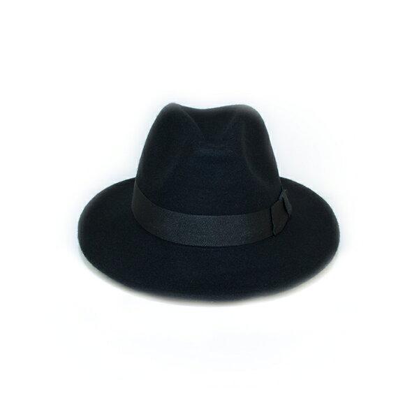 MONEY HAT 2016秋冬款 羊毛寬簷紳士帽 黑色