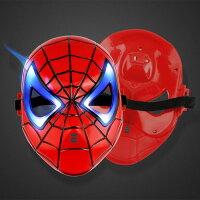 萬聖節Halloween到=優生活=蜘蛛人發光面具 萬聖節 聖誕節 造型面具 表演面具 LED面具 有開關