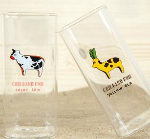 =優生活=韓國插畫晚安故事方形牛奶杯 玻璃杯 水杯