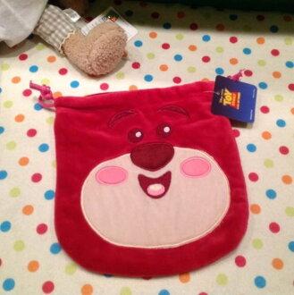 =優生活=Disney玩具總動員 最愛熊抱哥 草莓熊 束口包 數位相機包 化妝包 衛生棉包 收納袋