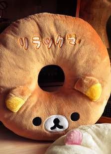 =優生活=拉拉熊 懶懶熊 甜甜圈造型坐墊 美臀坐墊 抱枕 產後痔瘡坐墊