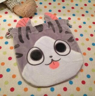 =優生活=貓咪束口袋 收納袋 化妝包 拍得立相機包