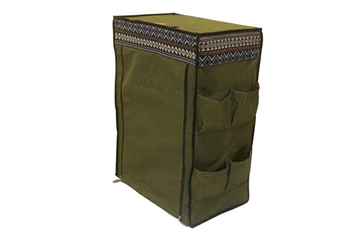 野樂伸縮三層竹架布櫃,布袋下方有魔鬼氈設計 ARC-109-3C 野樂 Camping Ace 1