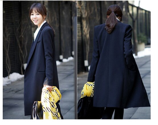 西裝外套 OL修身墊肩長版西裝外套艾爾莎【TGK0108】 2