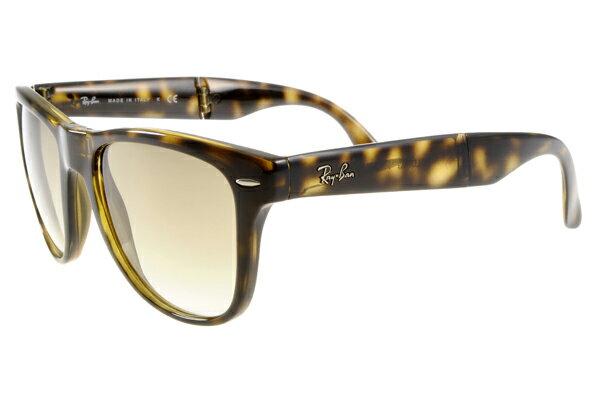 Ray Ban 雷朋 琥珀玳瑁 太陽眼鏡 RB4105 折疊 4