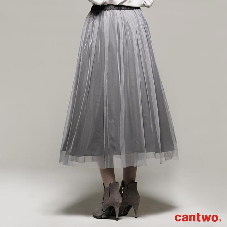 cantwo雙色長紗裙(共二色) 3