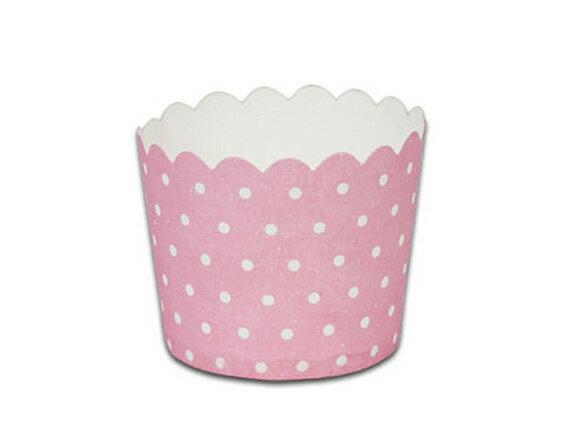 瑪芬杯、杯子蛋糕、烘烤紙杯 MF6256-04 粉底圓點(50pcs/包)