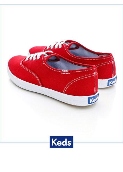 Keds 品牌經典休閒鞋-紅(限量) 套入式│懶人鞋│平底鞋│綁帶 7