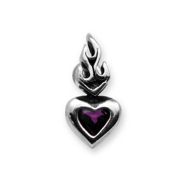 【現貨商品】【Leathers&Treasures】神聖之心紫水晶純銀耳環 (LTE013-A  0117690000) 2