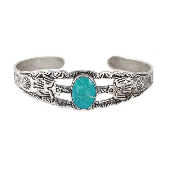 【海外訂購】【Indian Jewelry】印地安圖騰刻印綠松石古董手鐲(Vintage-077  S000008758) 2
