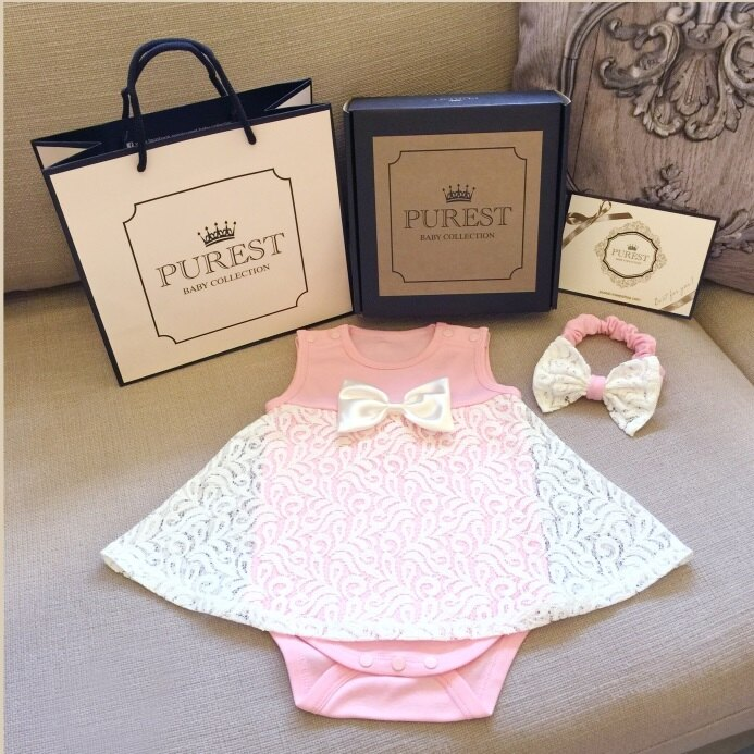 PUREST baby collection【小公主的華麗裝扮】禮盒組 (夢幻禮服+頭帶組) 0